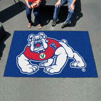 "59.5"" x 94.5"" Fresno State Blue Rectangle Ulti Mat"