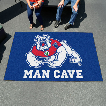 "59.5"" x 94.5"" Fresno State Blue Man Cave Rectangle Ulti Mat"