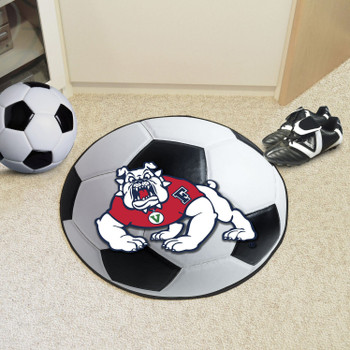 "27"" Fresno State Soccer Ball Round Mat"