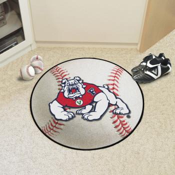 "27"" Fresno State Baseball Style Round Mat"