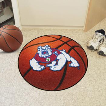 "27"" Fresno State Basketball Style Round Mat"