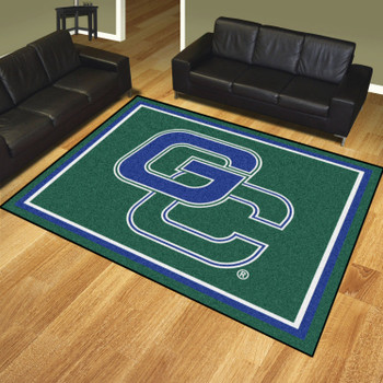 8' x 10' Georgia College Green Rectangle Rug