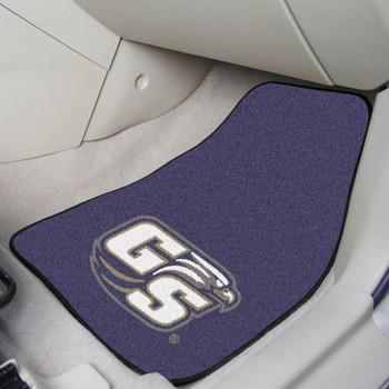 Georgia Southern University Blue Carpet Car Mat, Set of 2
