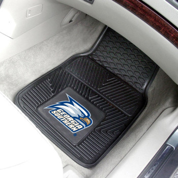 Georgia Southern University Heavy Duty Vinyl Front Black Car Mat, Set of 2