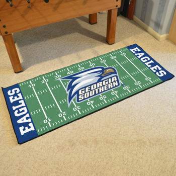"30"" x 72"" Georgia Southern University Football Field Rectangle Runner Mat"