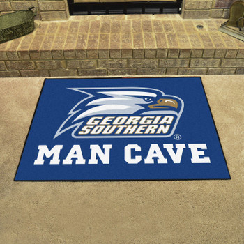 "33.75"" x 42.5"" Georgia Southern University Man Cave All-Star Blue Rectangle Mat"