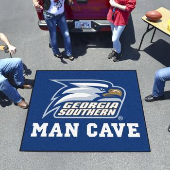 "59.5"" x 71"" Georgia Southern University Man Cave Tailgater Blue Rectangle Mat"