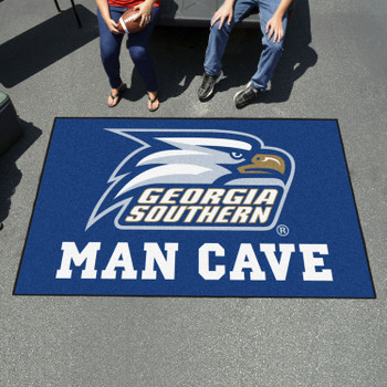 "59.5"" x 94.5"" Georgia Southern University Man Cave Blue Rectangle Ulti Mat"