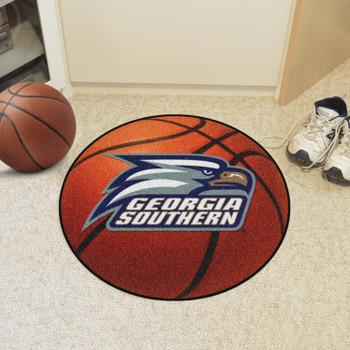 """27"""" Georgia Southern University Basketball Style Round Mat"""