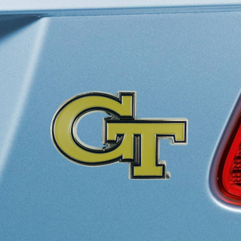 Georgia Tech Gold Color Emblem, Set of 2