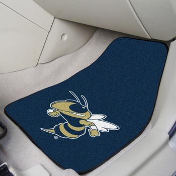 Georgia Tech Carpet Car Mat, Set of 2