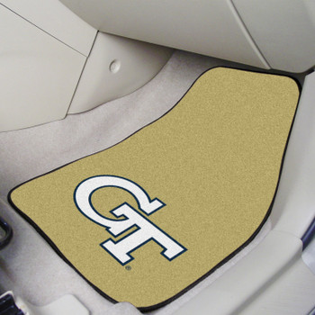 Georgia Tech Gold Carpet Car Mat, Set of 2