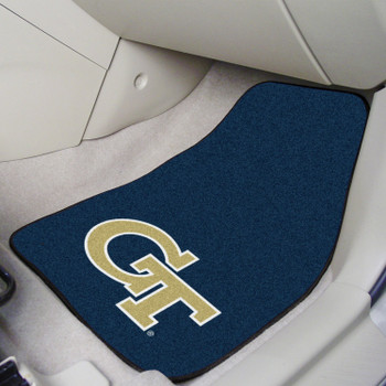 Georgia Tech Blue Carpet Car Mat, Set of 2