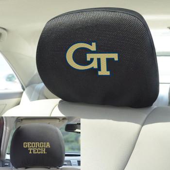 Georgia Tech Car Headrest Cover, Set of 2