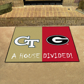 "33.75"" x 42.5"" Georgia Tech / Georgia House Divided Rectangle Mat"