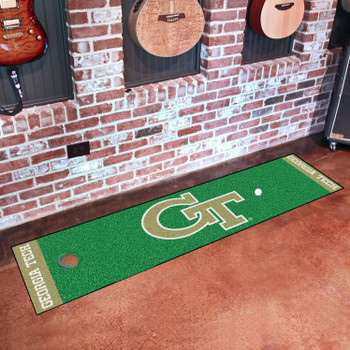 "18"" x 72"" Georgia Tech Putting Green Runner Mat"