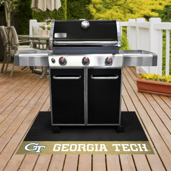 "26"" x 42"" Georgia Tech Yellow Jackets Gold Grill Mat"