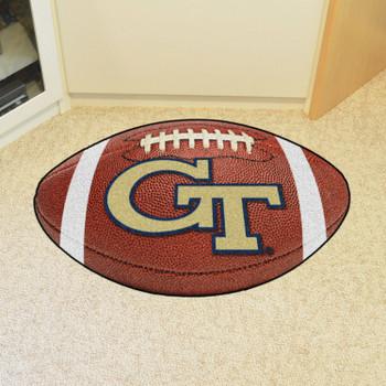 """20.5"""" x 32.5"""" Georgia Tech Football Shape Mat"""
