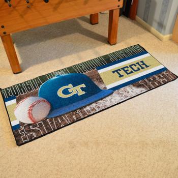 """30"""" x 72"""" Georgia Tech Baseball Style Rectangle Runner Mat"""