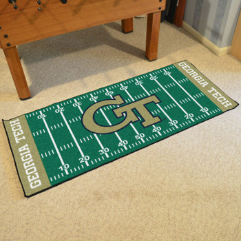 "30"" x 72"" Georgia Tech Football Field Rectangle Runner Mat"