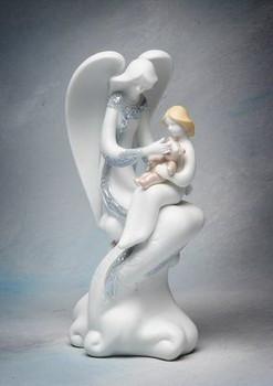 Nursing Angel Porcelain Figurine Sculpture
