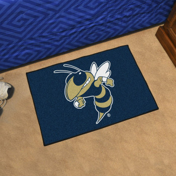 "19"" x 30"" Georgia Tech Blue Rectangle Starter Mat"