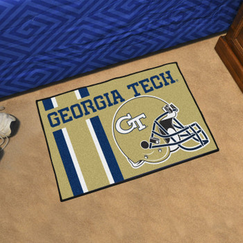 "19"" x 30"" Georgia Tech Uniform Gold Rectangle Starter Mat"