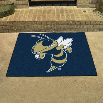 "33.75"" x 42.5"" Georgia Tech All Star Blue Rectangle Mat"