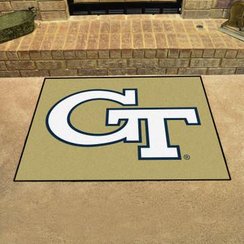 """33.75"""" x 42.5"""" Georgia Tech All Star Gold Rectangle Mat"""