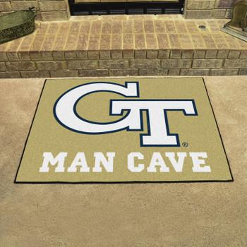 "33.75"" x 42.5"" Georgia Tech Man Cave All-Star Rectangle Mat"