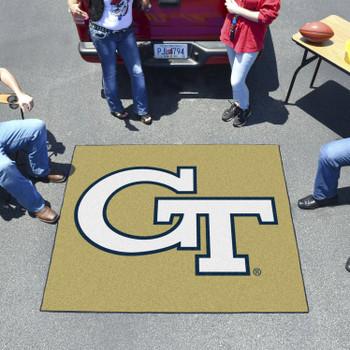 "59.5"" x 71"" Georgia Tech Gold Tailgater Mat"
