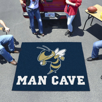 "59.5"" x 71"" Georgia Tech Blue Man Cave Tailgater Rectangle Mat"
