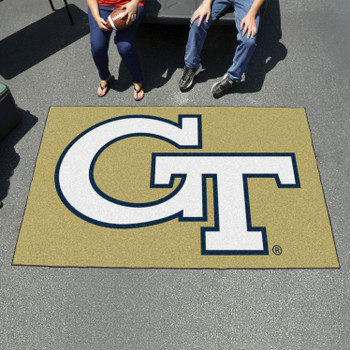 "59.5"" x 94.5"" Georgia Tech Gold Rectangle Ulti Mat"