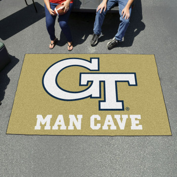 "59.5"" x 94.5"" Georgia Tech Gold Man Cave Rectangle Ulti Mat"