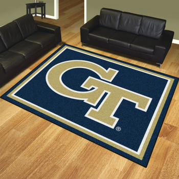 8' x 10' Georgia Tech Rectangle Rug