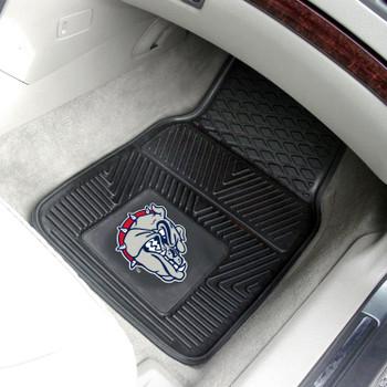 Gonzaga University Heavy Duty Vinyl Front Black Car Mat, Set of 2
