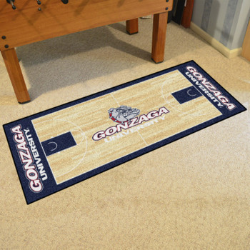 """30"""" x 72"""" Gonzaga University NCAA Basketball Rectangle Runner Mat"""