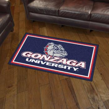 3' x 5' Gonzaga University Blue Rectangle Rug
