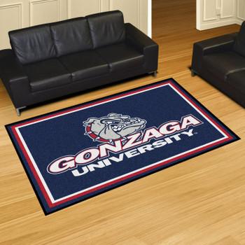 5' x 8' Gonzaga University Blue Rectangle Rug
