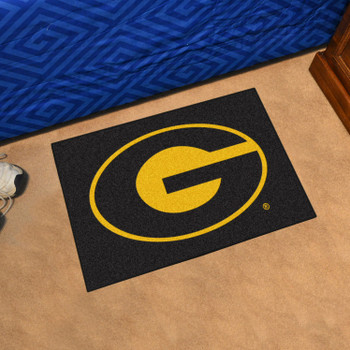 "19"" x 30"" Grambling State University Black Rectangle Starter Mat"