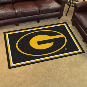 4' x 6' Grambling State University Black Rectangle Rug