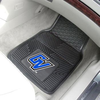 Grand Valley State University Heavy Duty Vinyl Front Black Car Mat, Set of 2