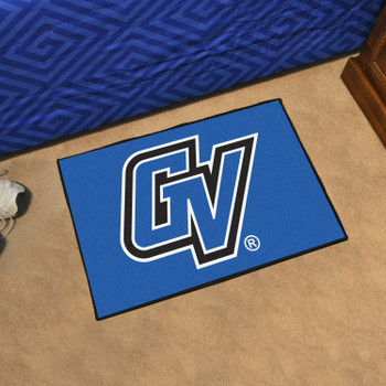 "19"" x 30"" Grand Valley State University Blue Rectangle Starter Mat"