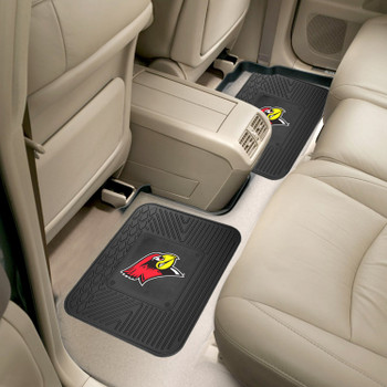 Illinois State University Heavy Duty Vinyl Car Utility Mats, Set of 2
