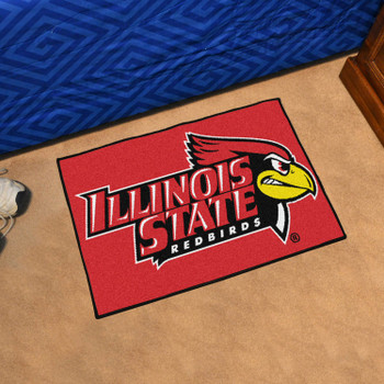 "19"" x 30"" Illinois State University Red Rectangle Starter Mat"