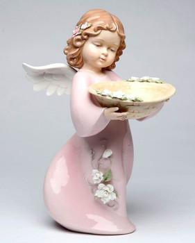 A Basketful of Thanks Angel Porcelain Sculpture