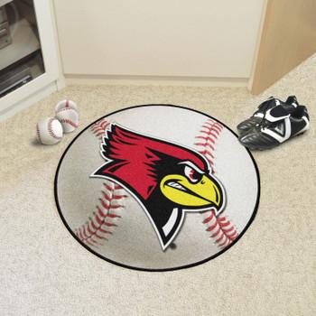 """27"""" Illinois State University Baseball Style Round Mat"""