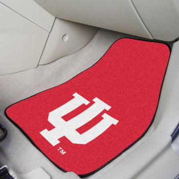 Indiana University Red Carpet Car Mat, Set of 2