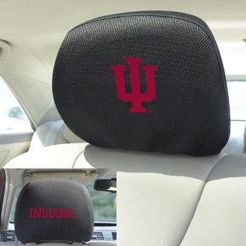 Indiana University Car Headrest Cover, Set of 2