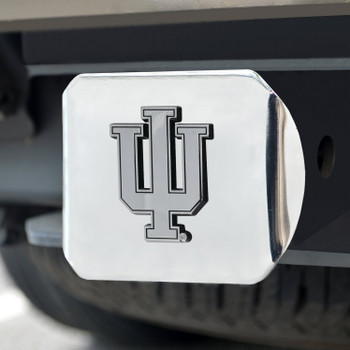 Indiana University Hitch Cover - Chrome on Chrome